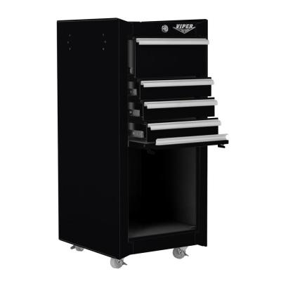Viper Tool Storage 16 in. 4 Drawer Tool/Salon Cart in Black
