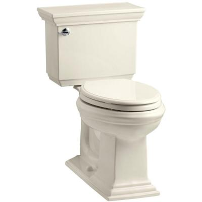 KOHLER Memoirs Stately Comfort Height 2-piece 1.6 GPF Elongated Toilet with AquaPiston Flush Technology in Almond