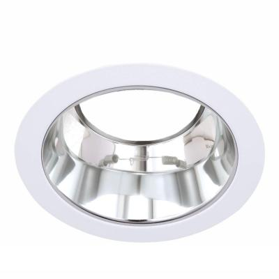 5 in. Line Voltage Recessed R30/PAR30 Chrome Reflector with White Trim