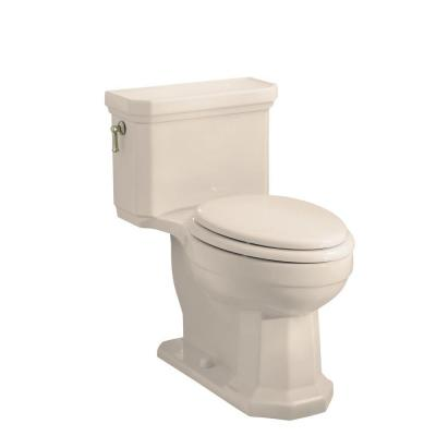KOHLER Kathryn Comfort Height 1-piece 1.6 GPF Elongated Toilet with AquaPiston Flushing Technology in Innocent Blush