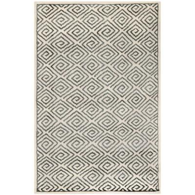 Mosaic Beige/Grey 5 ft. x 8 ft. Area Rug