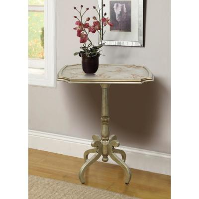 Eleanor Silver Handpainted End Table Image