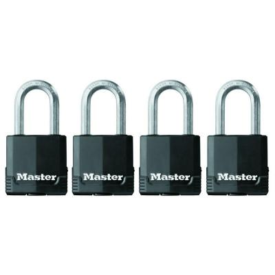 Master Lock Magnum 1-3/4 in. Covered Laminated Steel Padlock with 1-1/2 in. Shackle (4-Pack)