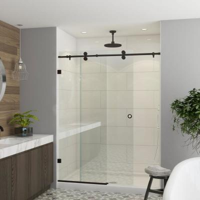 Model 7800 - 44 to 48 in. X 76 in. Frameless Clear Duratuf Heavy Tempered Safety Glass Sliding Shower Door