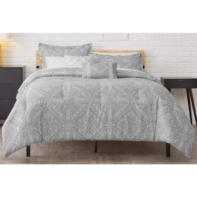 Torsten Stone Gray Diamond Comforter Set