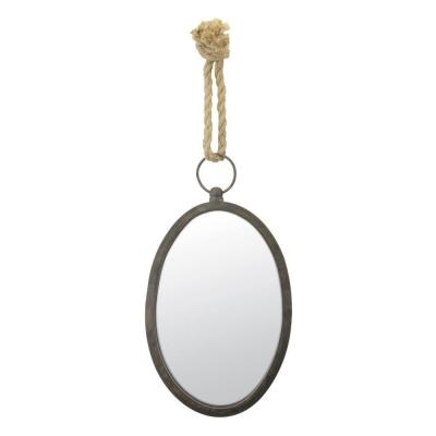 12 in. H x 7.5 in. W Oval Nautical Mirror Product Photo