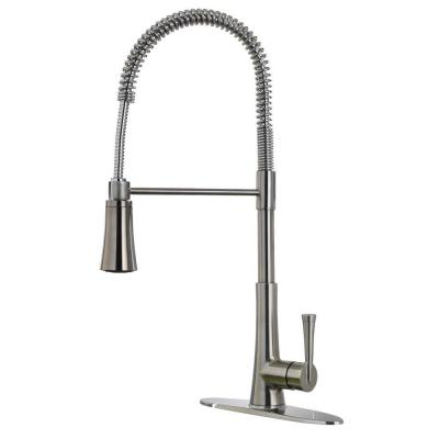 Commercial Kitchen Faucets With Sprayer : Commercial Style Single-Handle Pull-Down Sprayer Kitchen Faucet ...