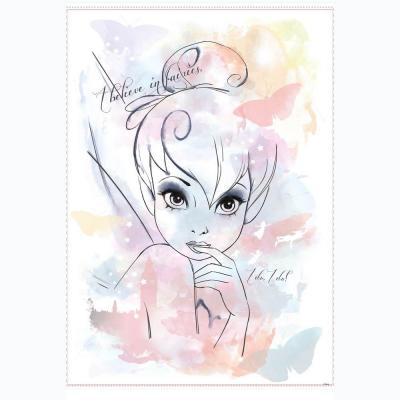 RoomMates 5 in. x 19 in. Disney I Believe in Fairies Tink Watercolor Graphic P&S Giant Wall Decal