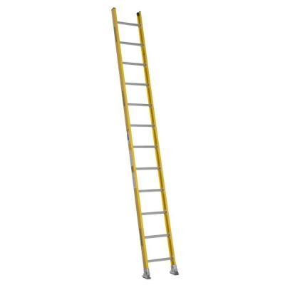 Werner 12 ft. Fiberglass Round Rung Straight Ladder with 375 lb. Load Capacity Type IAA Duty Rating