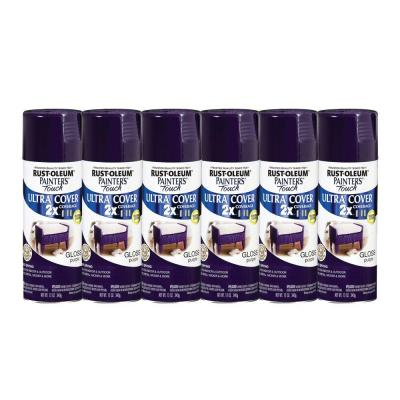 Painter's Touch 12 oz. Gloss Purple Spray Paint (6-Pack)-DISCONTINUED