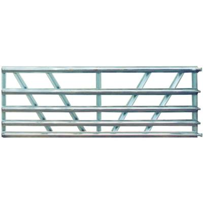 Utility 6 ft. x 50 in. 5-Panel Galvanized Gate