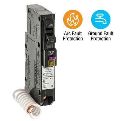 QO 15 Amp Single-Pole Dual Function (CAFCI and GFCI) Circuit Breaker Product Photo