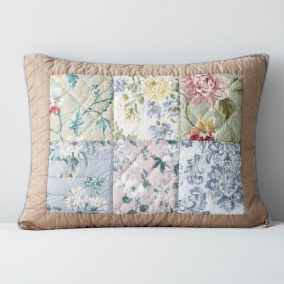 Atrium Floral Cotton Patchwork Sham