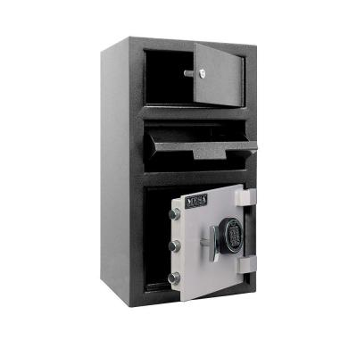 MESA 1.5 cu. ft. All Steel Electronic Lock Depository Safe with Outer Locker in 2-Tone, Black and Grey