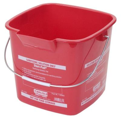 Carlisle 6 Qt. Red Steri-Pail for Sanitizing Solutions (12-Case)