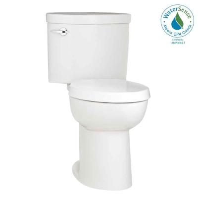 Porcher Ovale 2-Piece High-Efficiency Round Toilet in White-DISCONTINUED