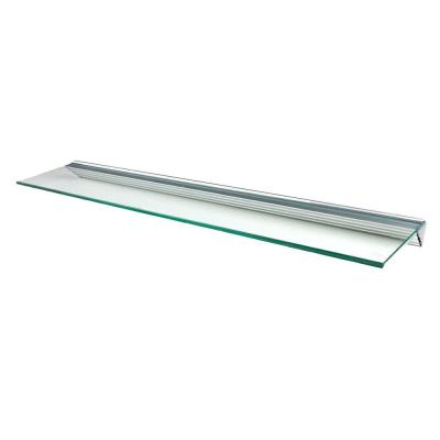 Glacier Clear Glass Shelf with Silver Bracket Shelf Kit (Price Varies By Size) Product Photo