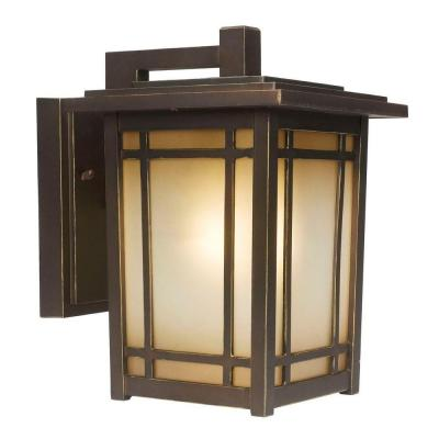 Home Decorators Collection Port Oxford 1-Light Oil-Rubbed Chestnut Outdoor Wall Lantern