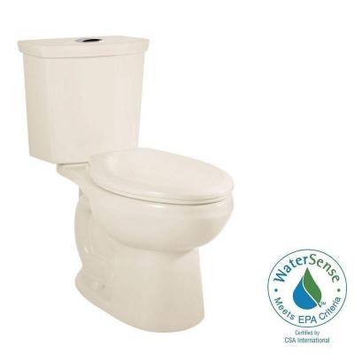 American Standard H2Option 2-piece 0.92/1.28 GPF Dual Flush Round Front Toilet with Liner in Linen