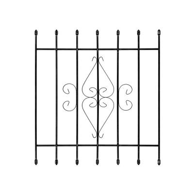36 in. x 42 in. Su Casa Black 7-Bar Window Guard Product Photo
