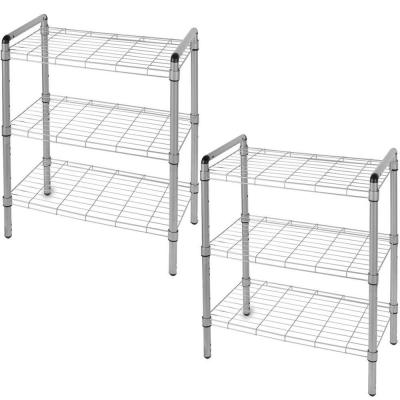 The Art of Storage 23 in. 3-Tier Quick Rack Adjustable Wire Shelving Organizer (2-Pack)