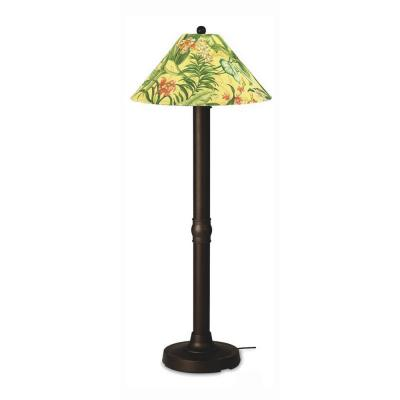 Patio Living Concepts Seaside 60 in. Outdoor Bronze Floor Lamp with Soleil Shade