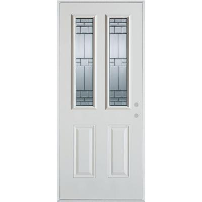 36 in. x 80 in. Architectural 2 Lite 2-Panel Prefinished White