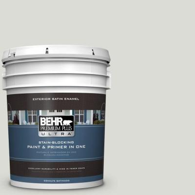 5-gal. #BWC-29 Silver Feather Satin Enamel Exterior Paint
