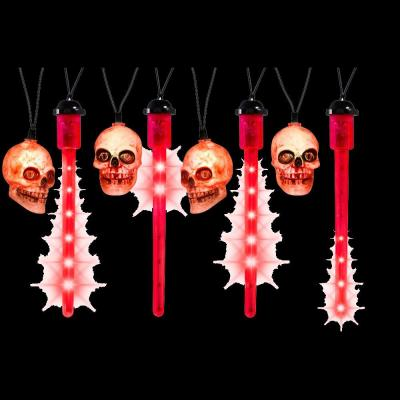 Home Accents Holiday LED Red Blood Drip Lights with Skulls