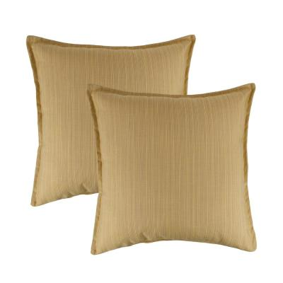 Sunbrella Solid 20 in. x 20 in. Throw Pillow (Set of 2)