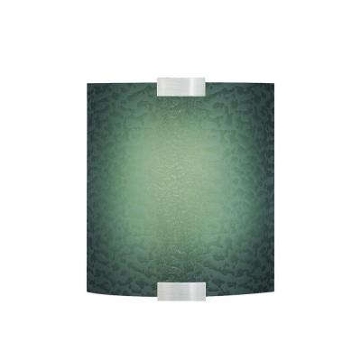 LBL Lighting Omni with Cover Small 1-Light Outdoor Silver Wall Sconce with Blue Shade