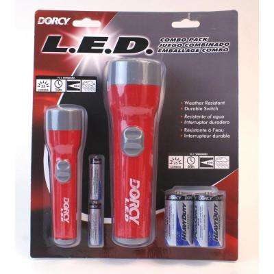 Dorcy Deluxe High Impact Resin LED Flashlight Set (2-Pack)
