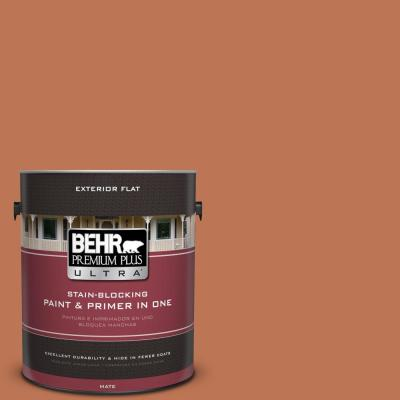 BEHR Premium Plus Ultra 1 gal. #UL120-7 Moroccan Sky Flat Exterior Paint