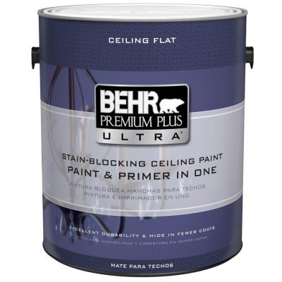 BEHR Premium Plus Ultra 1 gal. Ultra Pure White Ceiling Paint