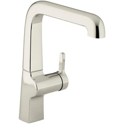 Evoke Single-Handle Standard Kitchen Faucet in Vibrant Polished Nickel Product Photo