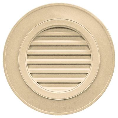 28 in. Round Gable Vent in Dark Almond (without Keystones)