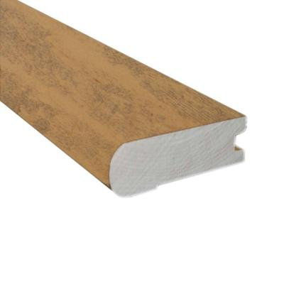 Smoked Maple Natural 0.81 in. Thick x 2-3/4 in. Wide x 78 in. Length Flush Mount Stair Nose Molding Product Photo