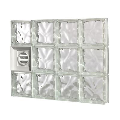 Pittsburgh Corning 21.25 in. x 31.5 in. x 3 in. GuardWise Dryer-Vented Decora Pattern Glass Block Window