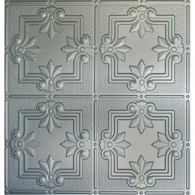 Dimensions 2 ft. x 2 ft. Nickel Lay-in Tin Ceiling Tile
