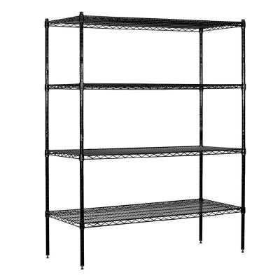 Salsbury Industries 9600S Series 60 in. W x 74 in. H x 18 in. D Industrial Grade Welded Wire Stationary Wire Shelving in Black