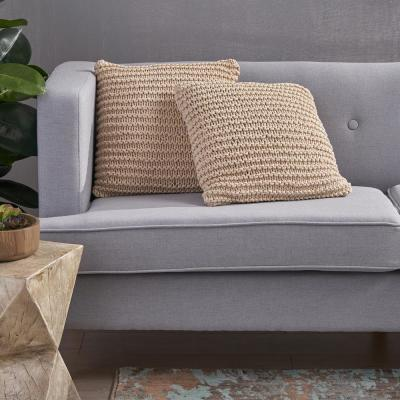 Farlie Solid Cotton 17.25 in. x 6 in. Throw Pillow (Set of 2)
