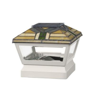 5 in. x 5 in. Vinyl Solar Light Forest Top Pyramid