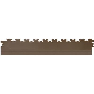 IT-tile 20-1/2 in. x 2-1/2 in. Diamond Plate Tan PVC Tapered Interlocking Multi-Purpose Flooring Tile Edges (4-Pack)