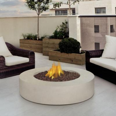 Real Flame Mezzo 42 in. Round Propane Gas Fire Pit in Antique White