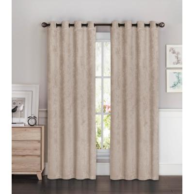 Bella Luna Faux Suede Room Darkening Extra Wide 2-Piece Set Collection - Window Curtain