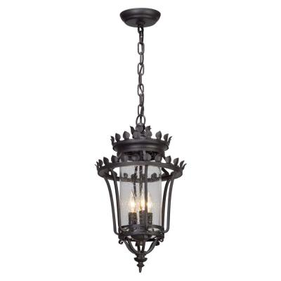 Troy Lighting Greystone 3-Light Forged Iron Outdoor Pendant
