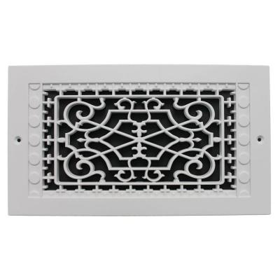 Victorian Wall Mount 6 in. x 12 in. Polymer Resin Decorative