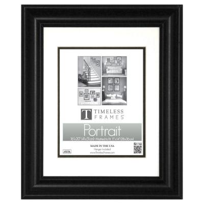Timeless Frames Lauren 1-Opening 16 in. x 20 in. Black Matted Picture Frame