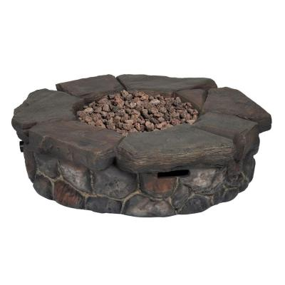 Granite Falls 42 in. Round Stainless Steel Propane Fire Pit Product Photo