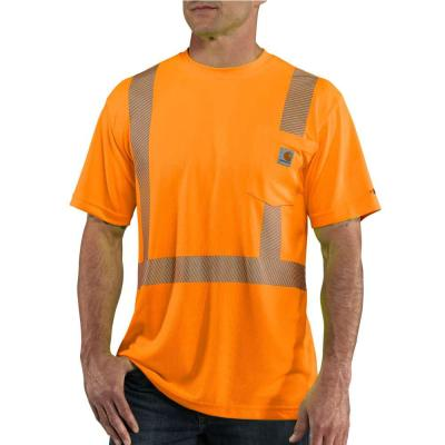 Personal Protective Brite Orange Polyester Short-Sleeve T-Shirt